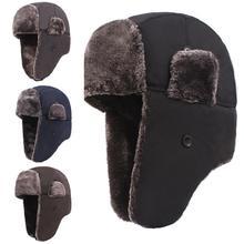 Trapper Bomber Aviator Russian Trooper Fur Winter Ski Hat