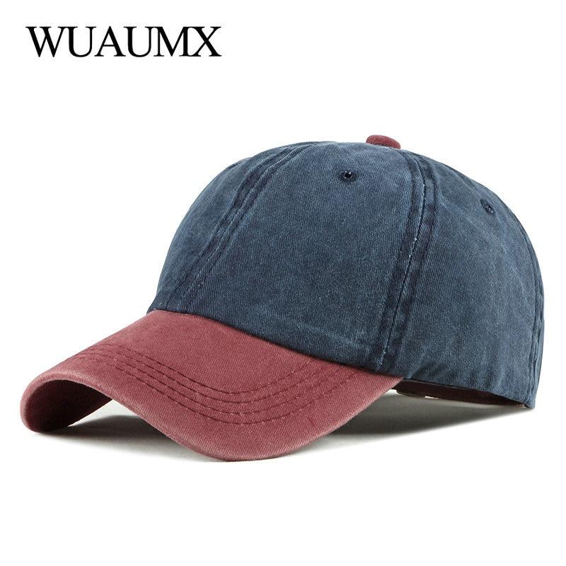 Wuaumx Casual Baseball Cap For Men Women Fashion Hip Hop Patchwork Snapback Cap Outdoor Sports Streetwear Trucker Hat Cotton