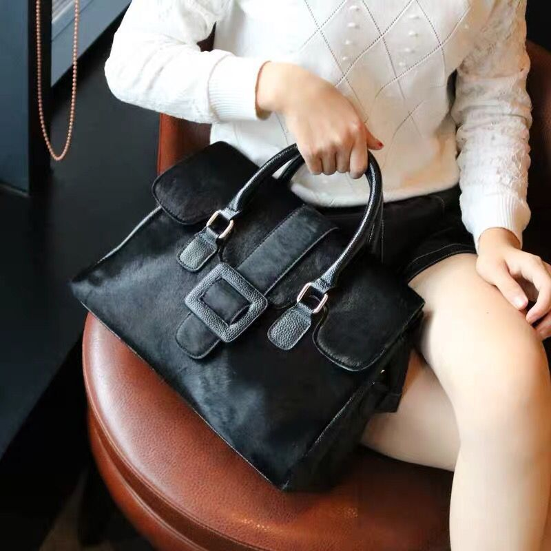 Mulheres naturais crina bolsa de couro genuíno boston satchel saco crossbody 2020 feminino designer de luxo sacos de alça superior