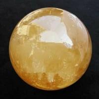 treatment of gem 40mm stent with natural topaz calcite quartz crystal ball