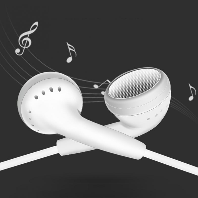In-ear flat earphone accessories earplugs Subwoofer with wheat earphones Wired in-line headset voice