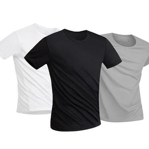 Men T Shirt Anti-Dirty Waterproof Solid Color Men T Shirt O Neck Short Sleeve Quick Dry Top For Male Tshirts M-5XL Streetwear