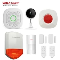Wolf-Guard Tuya WiFi alarme a domicile systeme de securite Kit camera IP Mode sonnette alarme capteur sirene Compatible avec Alexa et Google