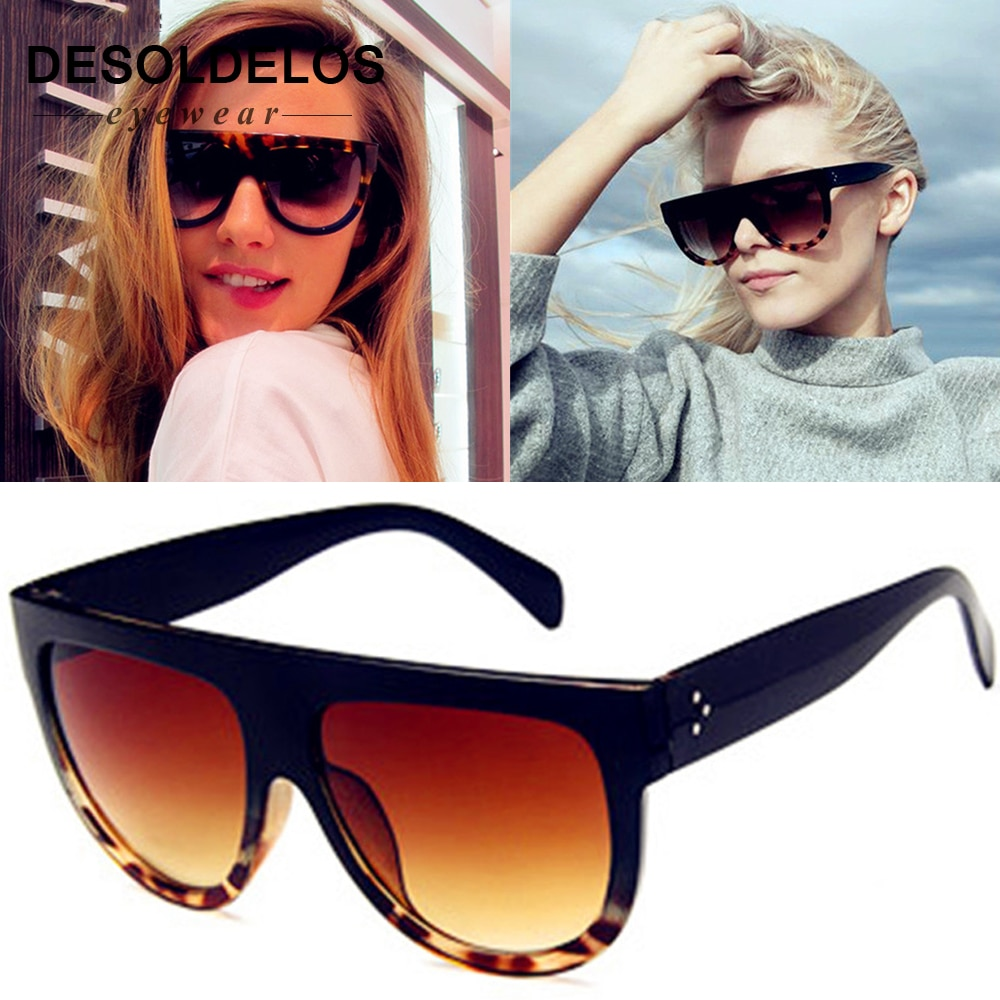 2019 Flat Top Oversized Sun Glasses Female Sexy Ladies Cat Eye Sunglasses Women Brand Designer Oculo