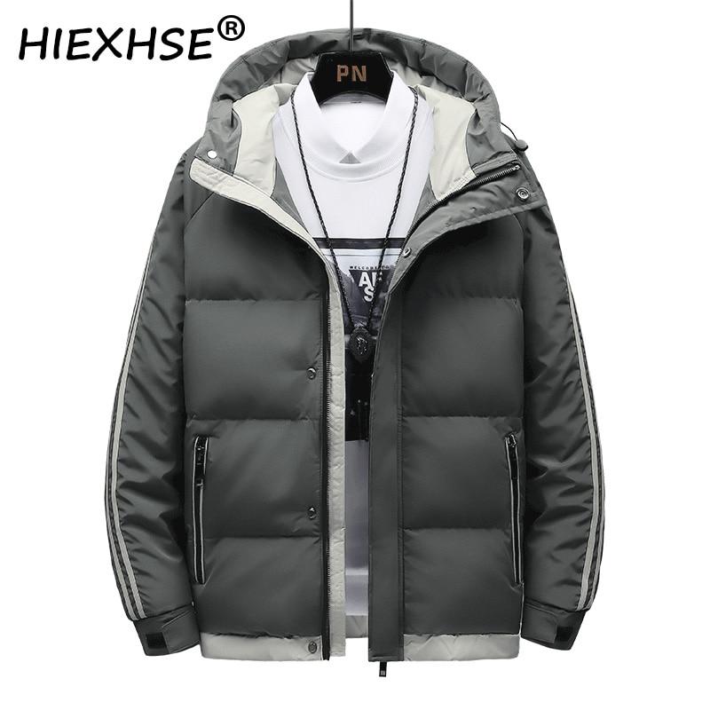 2021 Men Winter Casual Thick Warm Waterproof Cotton Jacket Parkas Men Autumn New Outwear Windproof H