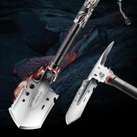 ultralight metal folding shovel multifunctional outdoor self defense hunting folding shovel car supervivencia outdoor tools dg50