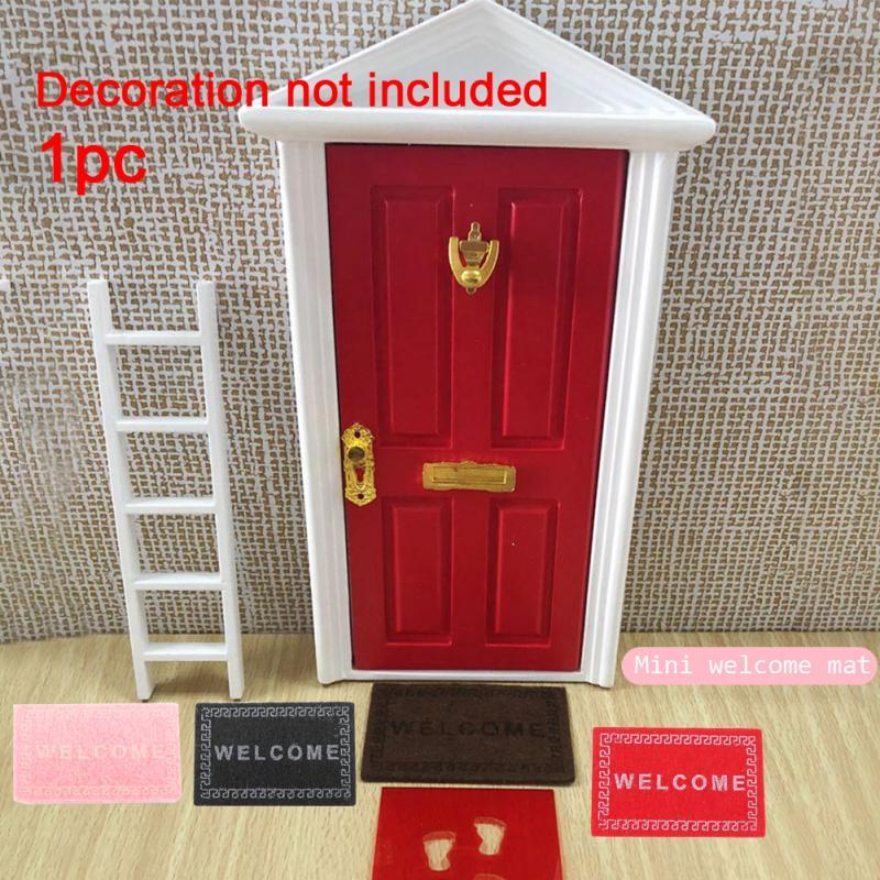 112 niños regalo fibra DIY artesanía miniatura alfombra de suelo alfombra de bienvenida casa de muñecas decorativas adornos accesorios hada hecha a mano