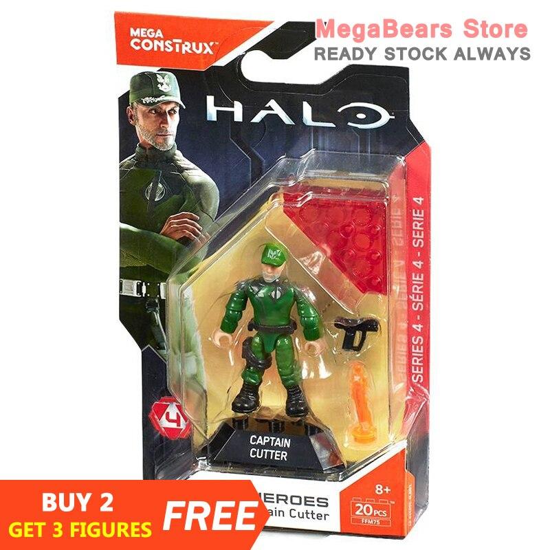 Mega Bloks Construx Halo Heroes FFM75 Halo Heroes Captian Cutter Building Blocks Construction Toys