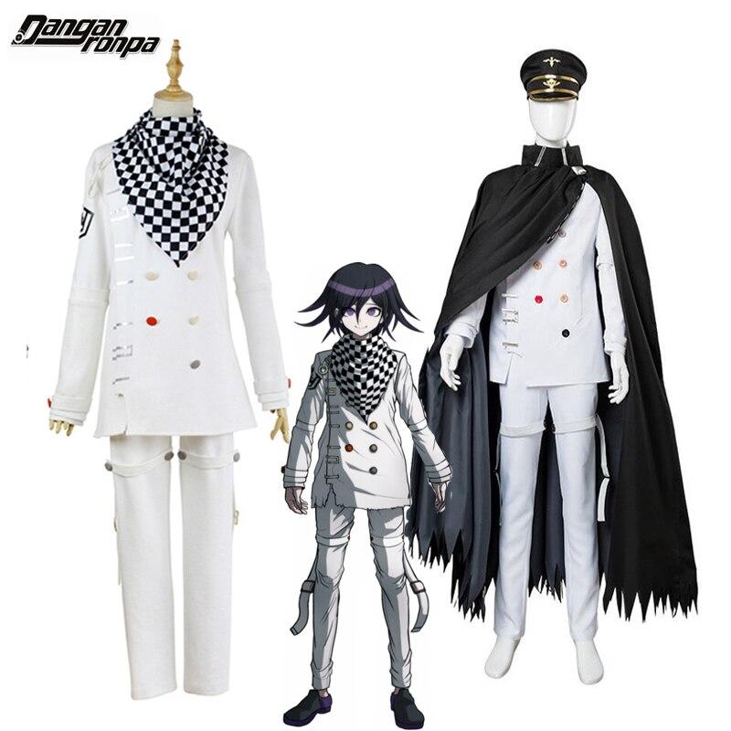 Anime danganronpa v3 ouma kokichi disfraz de cosplay Juego Japonés traje de uniforme escolar traje halloween fiesta de Carnaval Accesorios