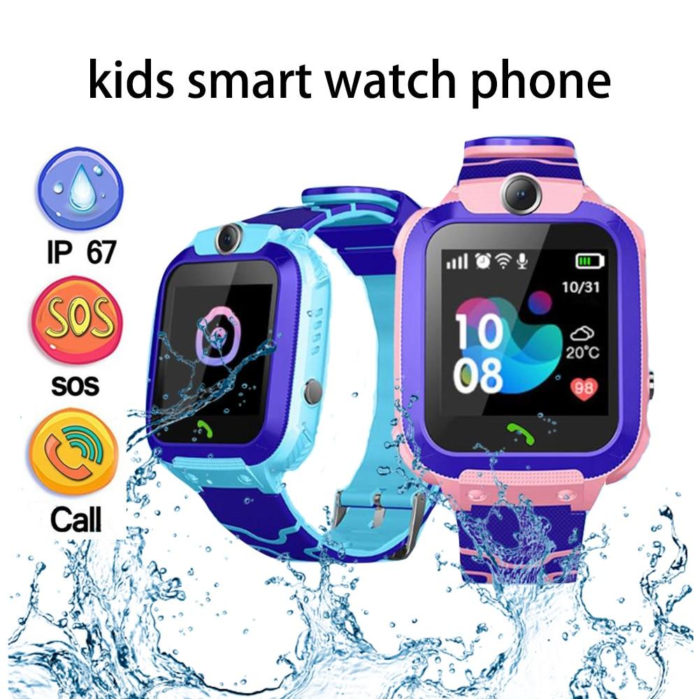 ساعة ذكية للأطفال ساعة هاتف للأطفال ساعة ذكية للبنين بنات مع بطاقة Sim صور مقاوم للماء IP67 هدية ل IOS أندرويد