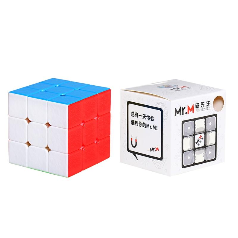 Promo Sengso Mr.M 3x3x3 Magnetic Magic Cube Stickerless Puzzle Professional Shengshou Magnets 3x3 Sp