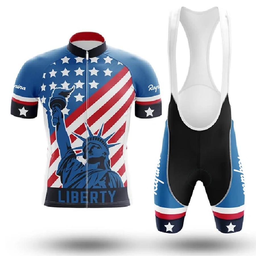 2020 novos eua pro equipe de verão longo skinsuit ciclismo dos homens biker shorts triathlon mtb conjunto bicicleta competição terno