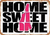 SRongmao     panneau metallique rose 8x12  maison douce  nouvelle zelande