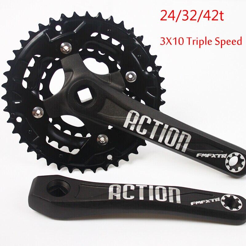 FMFXTR, platos y bielas de bicicleta de montaña de 170mm, 104/64BCD, 24/32/42t, accesorios de acero para cadena de bicicleta de montaña