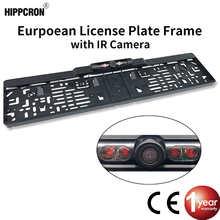 Автомобильная камера заднего вида с рамкой для номерного знака, беспроводная водонепроницаемая HD-камера ночного видения с 4 ИК светильник к...