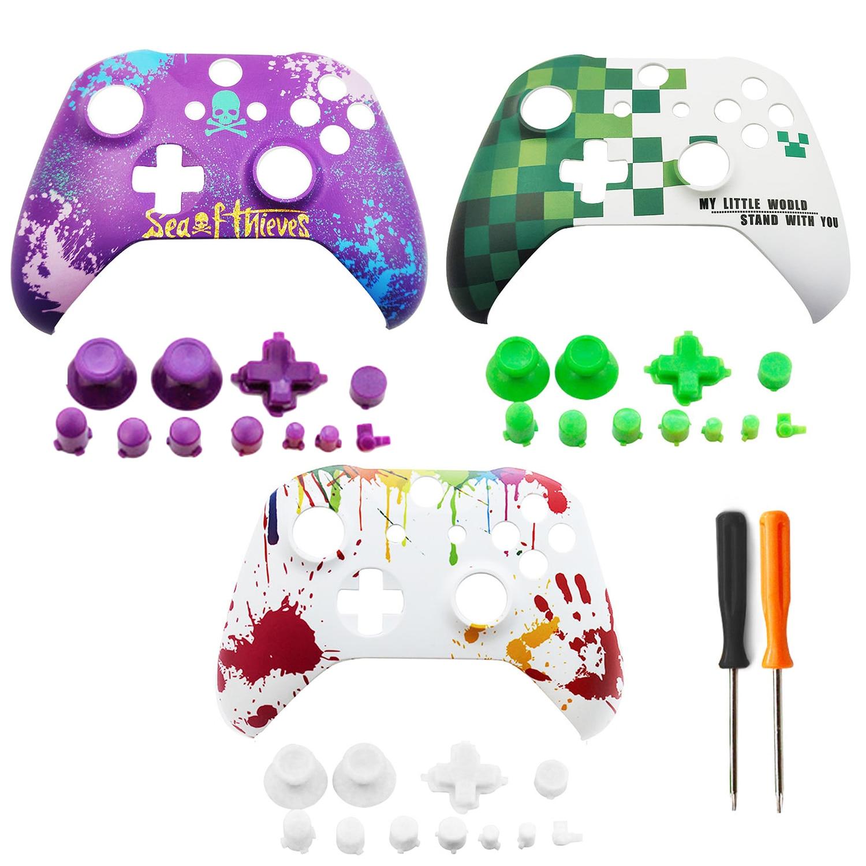 Bevigac colorido antideslizante ABS funda protectora dura Protector de piel para Microsoft Xbox One S accesorios de controlador Delgado