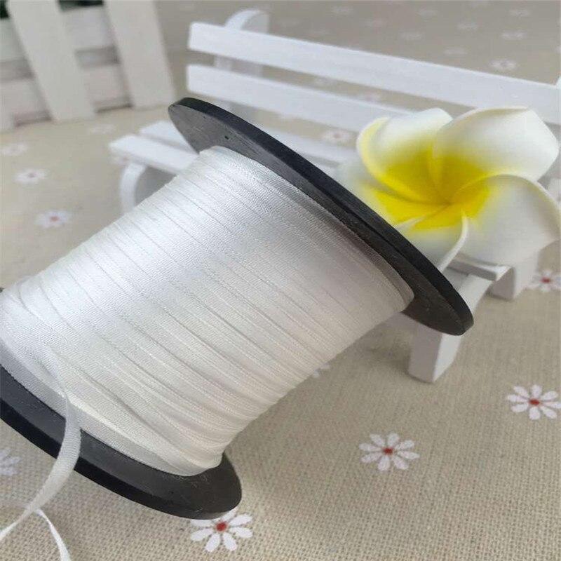 Неокрашенная сырой белый 2 мм 100% чистый шелковые ленты для вышивки, тонкие тафты, высококачественные шелковые ленты Anya ленты ручной работы
