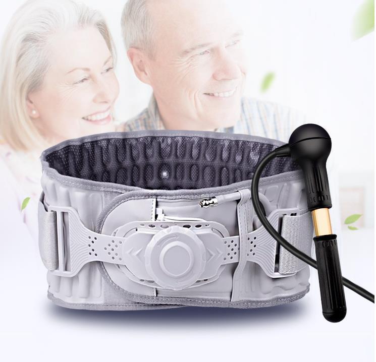Entre o prato da cintura excelente cinto retractor campos de tensão lombar engrenagem cintura suporte do corpo massageador