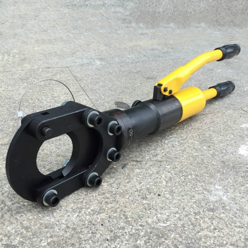 Hydraulic cable scissors Copper aluminum armored cable cutting pliers Electric wire breaking pliers Hand operated cable pliers enlarge