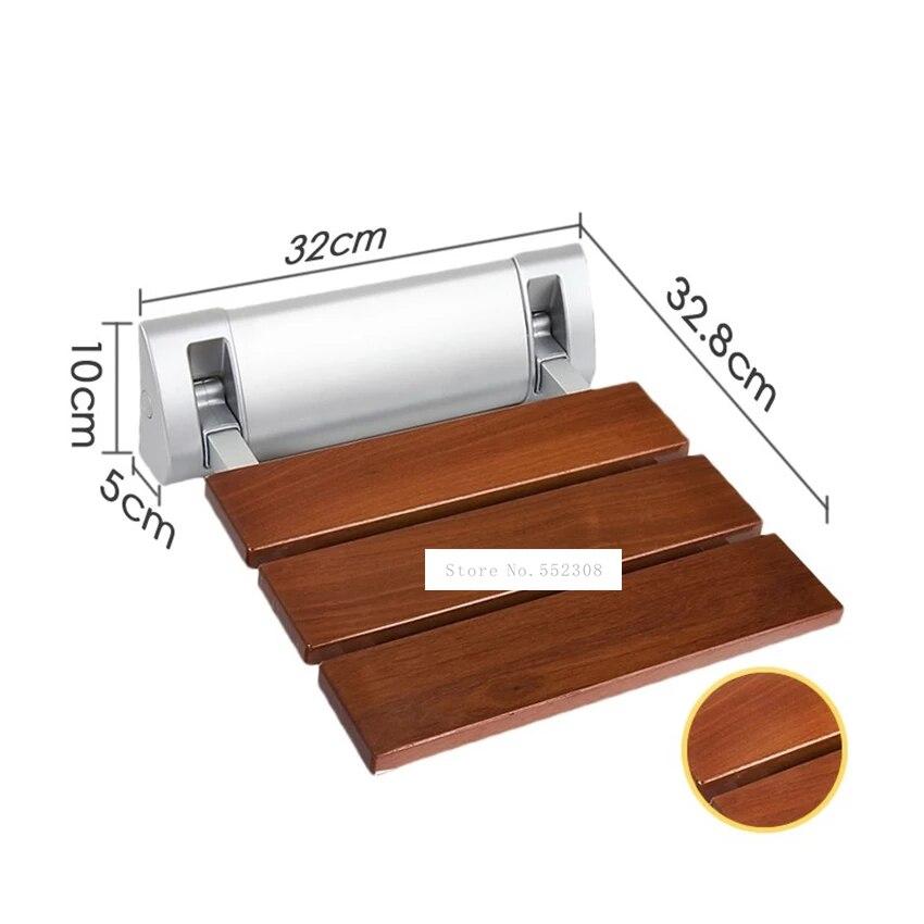 Asiento plegable de madera solida de alta calidad para... silla de pared...