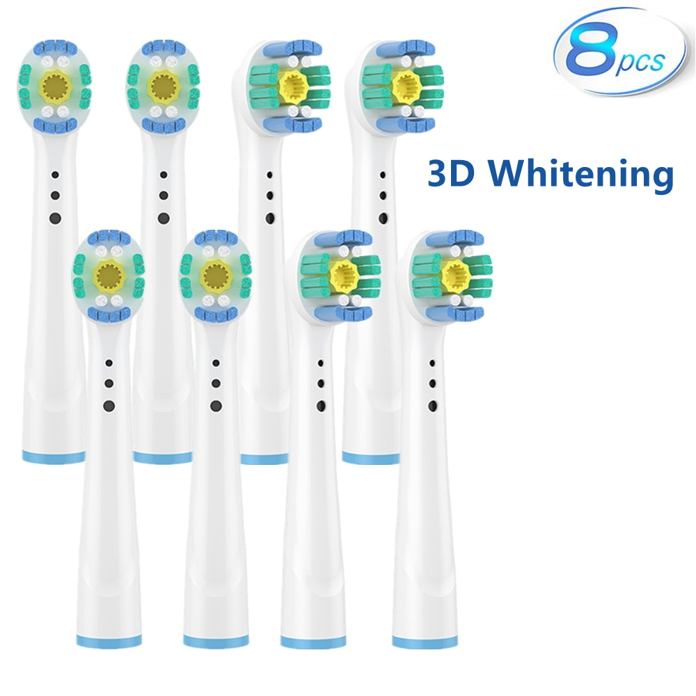 3D Whitening Electric Toothbrush Replacement Brush Heads Refill For Braun Oral B Toothbrush Heads Wholesale 8Pcs Toothbrush Head enlarge