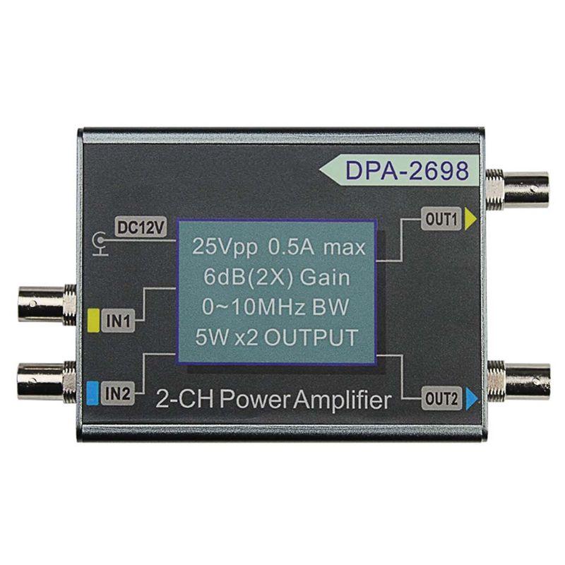 DPA-2698 10MHz 25Vpp ثنائي القناة 2CH DDS وظيفة إشارة مولد تيار مستمر مكبر كهربائي