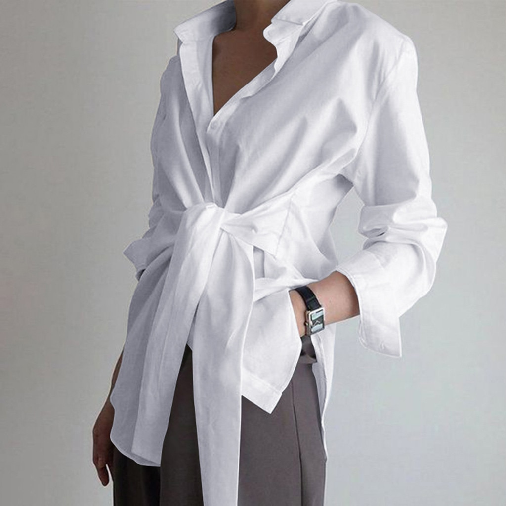 fashion women shirt blouse long sleeve ruched solid color blouse for office ladies white blue black autumn shirt solid ruched detail blouse