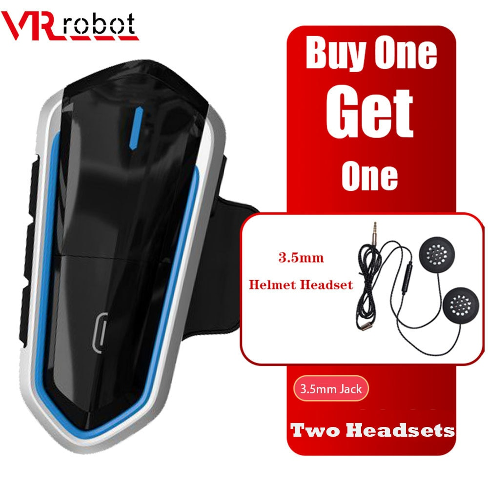 VR Robot B35 casco de motocicleta auriculares Bluetooth reproductor de música ESTÉREO FM casco Raido soporte de auriculares Siri/voz de Google