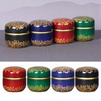 Mini Tin Tea Coffee Candy Storage Box Round Case Wedding Party Favor Container PXPC