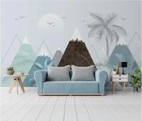 ainyoousem nordic geometric mountain peak background wall papier peint papel de parede wall paper 3d wallpaper stickers