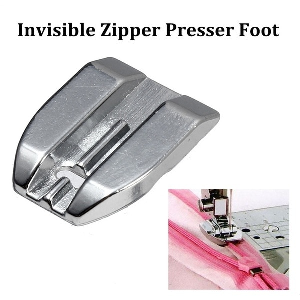 ​Invisible Concealed Zipper Presser Foot Feet Replacement for Brother Singer Toyota Janome feet Sewing Machine feet sewing Parts 62pcs mini sewing machine presser foot feet for brother singer janome presser feet braiding blind stitch darning accessories