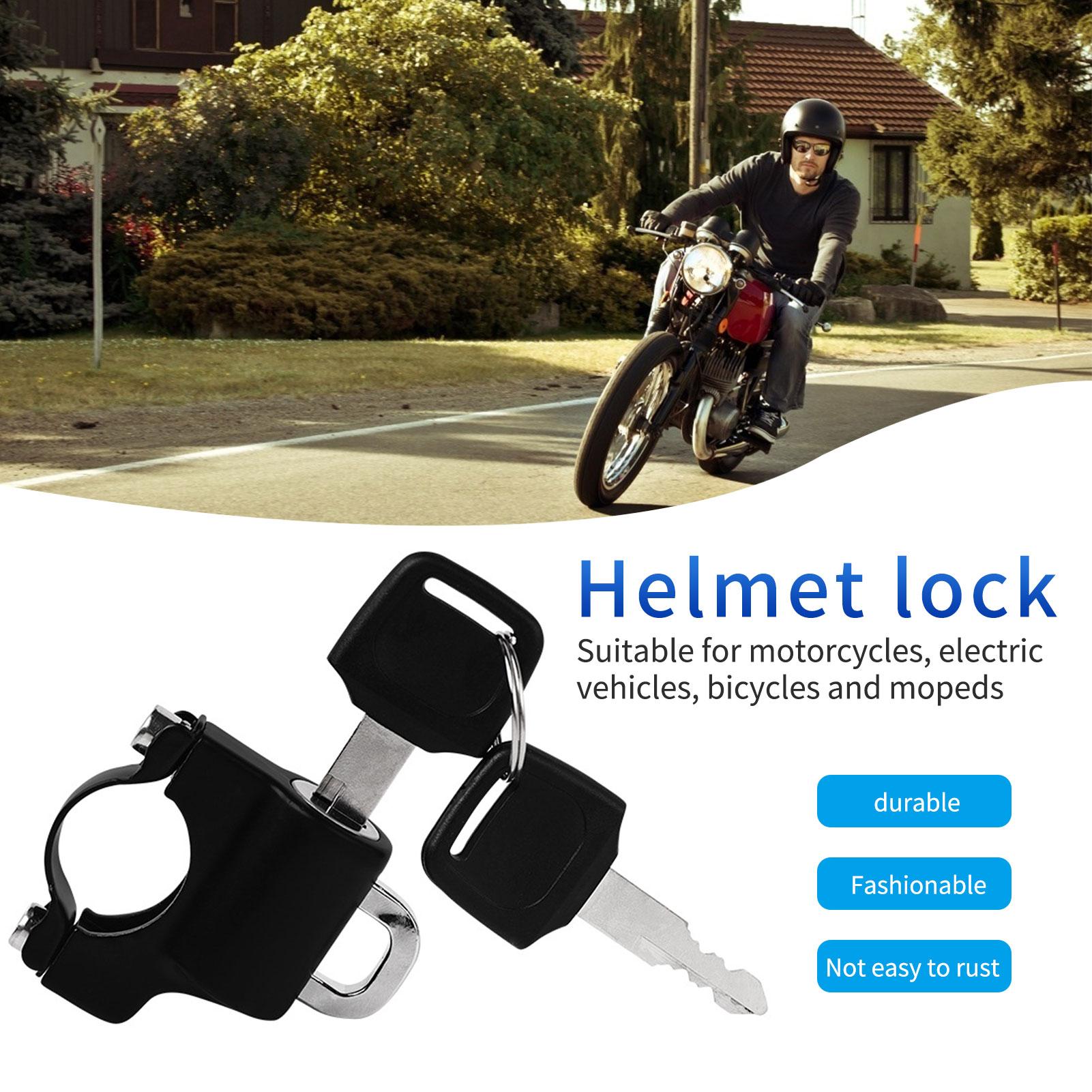 Motorcycle Universal Anti-theft Helmet Lock Security For 7/8 22mm Handlebar Honda for Kawasaki Suzuki Bike