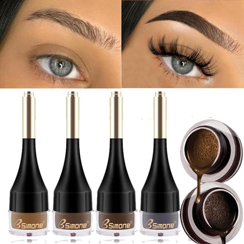 4 Color Eyebrow Cream Enhancers Long-lasting Waterproof Air-cushion Dye Eye Brows Gel Brown Tinted L