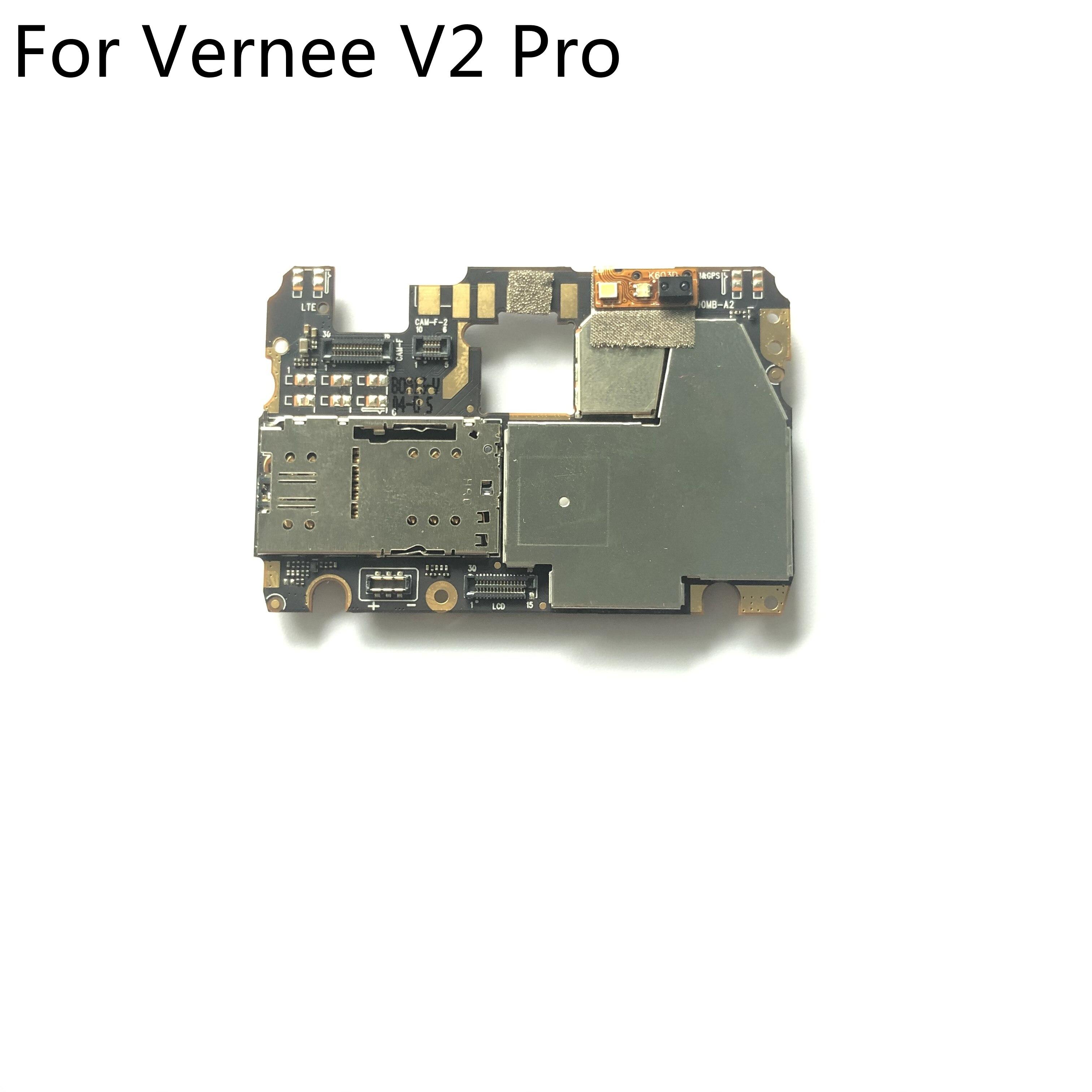 "Vernee v2 pro usado mainboard 6g ram + 64g rom placa-mãe para vernee v2 pro mt6763 octa core 5.99 ""2160x1080 smartphones"