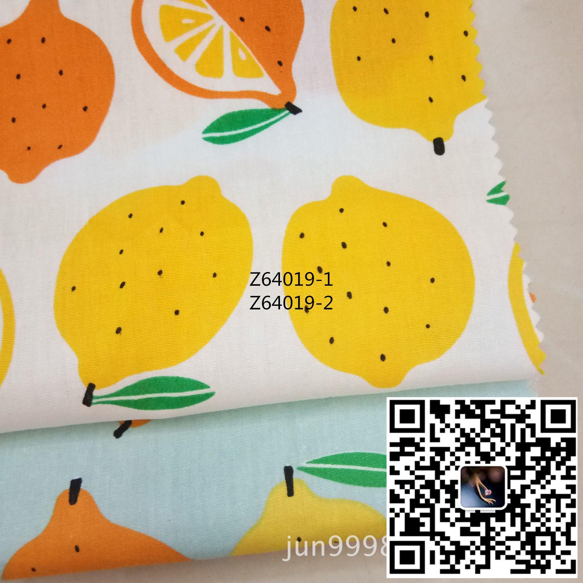 100% algodón popelina fruta de limón tela impresa, textil tejido, adecuado para ropa fundas de almohada, manteles, decorativo