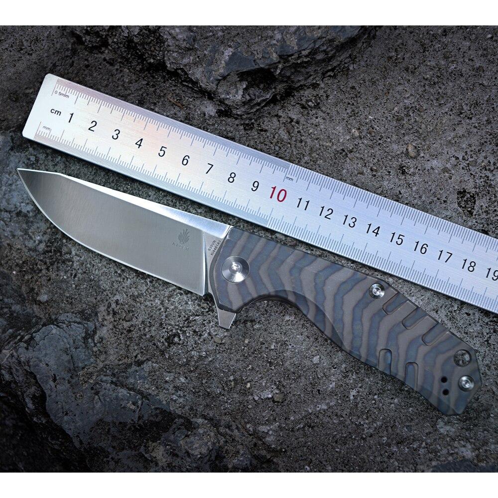 Kizer Bushcraft Messer Überleben CPM-S35VN Klinge 6AL4V Titan Griff Hohe Qualität Outdoor Taschen Messer Werkzeug Ki4461A1 Kesmec