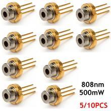5/10 pièces en métal 808nm 500mW infrarouge IR Laser Diode LD TO-18/5.6mm composants électroniques Diodes de qualité Durable