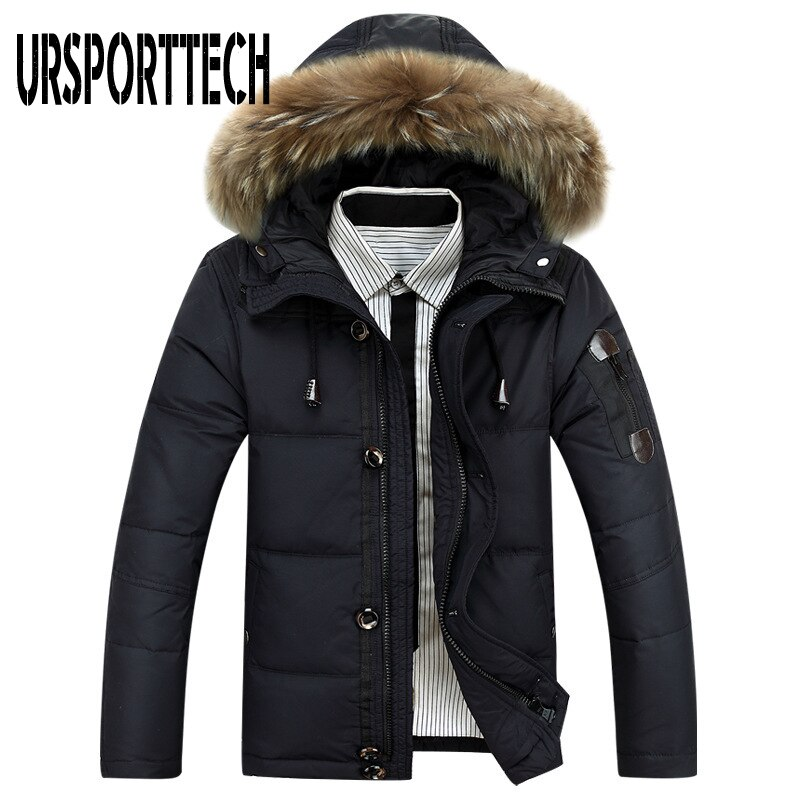 2021 new winter men down jacket warm down coats white duck down real raccoon fur hooded down jackets outwear winter men coats New Style Winter Jacket Men Big Size M-4XL Real Fur Collar Hooded White Duck Down Jacket Thick Down Jackets Men Warm Coats