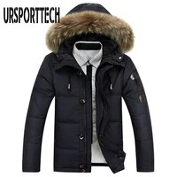 new style winter jacket men big size m 4xl real fur collar hooded white duck down jacket thick down jackets men warm coats
