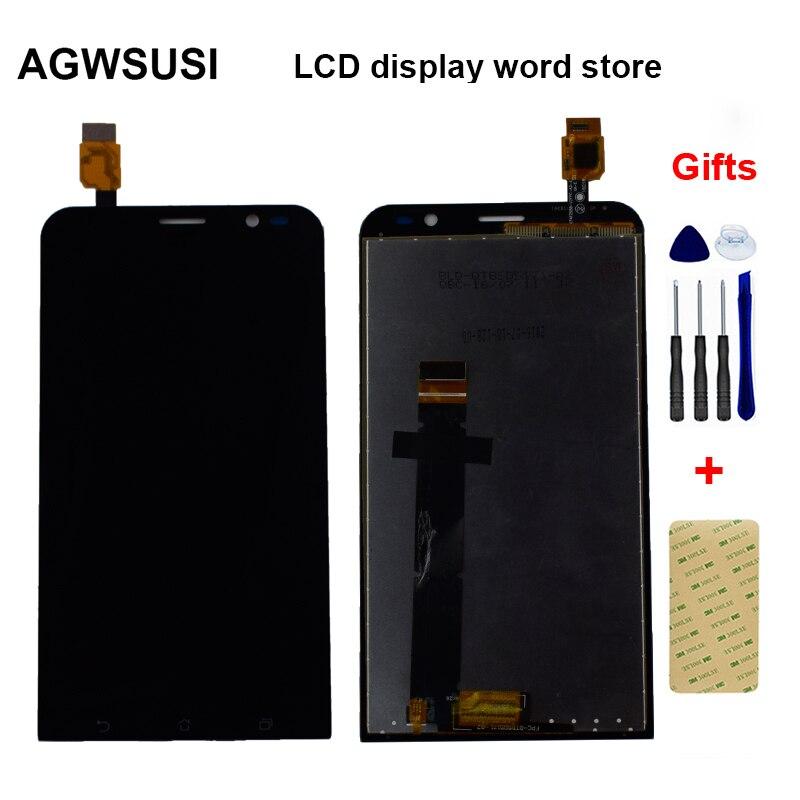 Negro para ASUS Zenfone 3 TV ZB551KL X013DB TD-LTE Monitor LCD Panel + Digitalizador de pantalla táctil Sensor de la Asamblea