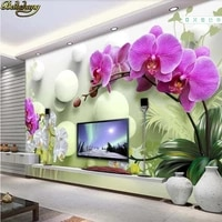 beibehang 3d wallpaper custom wall paper mural phalaenopsis 3d stereo tv background wall papers home decor papel de parede
