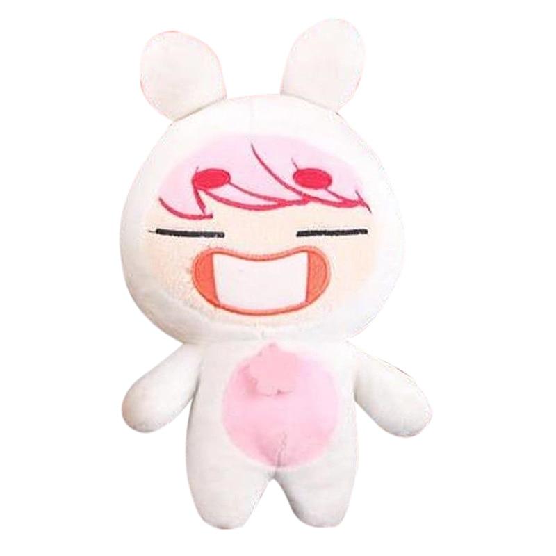 "22cm/8"" Korea Kawaii Plush ONew White Smile Plush Toy Stuffed Doll Handmade Cartoon Soft PP Cotton Toys Collection Fans Gift Hot"