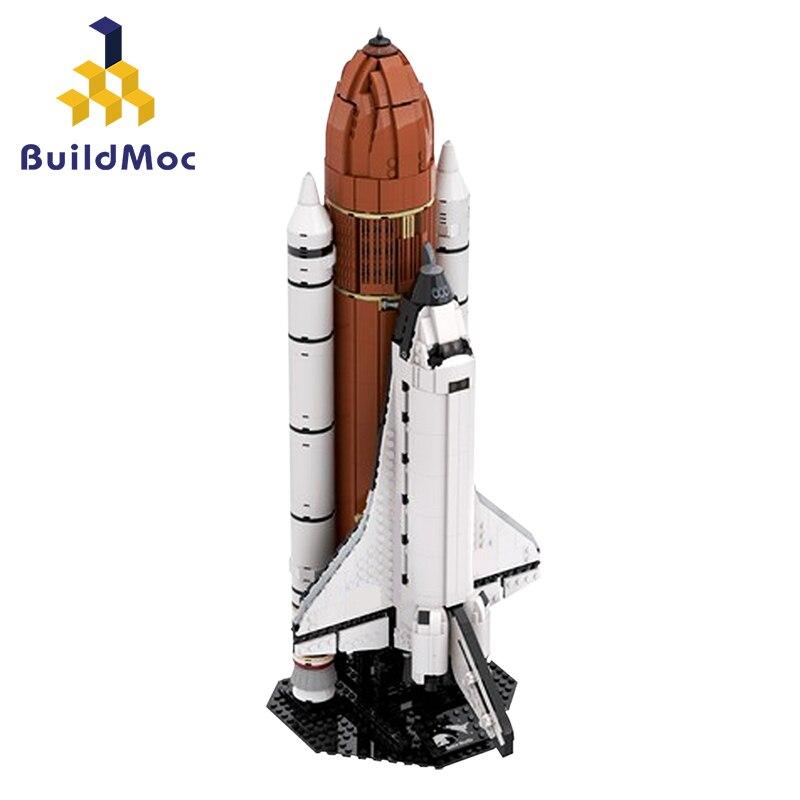 Construcdmoc 16014 ville espace technique navette fusée lancement Center navette expédition astronaute Figures blocs de construction jouets cadeaux