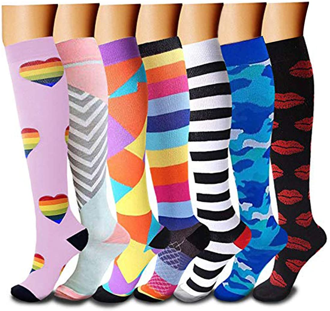 Compression Socks Marathon Running Sports Socks Men Women 30 Mmhg Knee High for Medical Edema Diabetes Varicose Veins