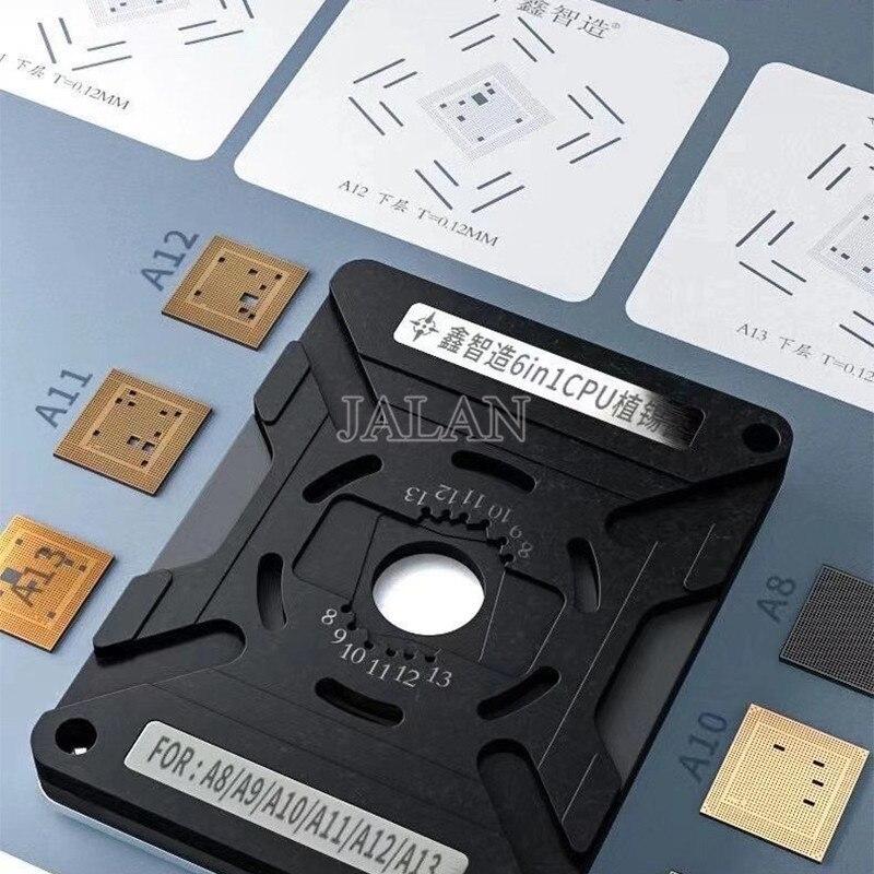 مجموعة أدوات إصلاح القصدير ، محطة وحدة المعالجة المركزية ، A8 A9 A10 A11 A12 A13 IC رقاقة BGA