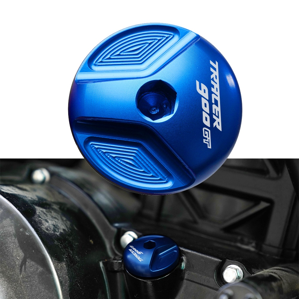 Tapa de relleno de aceite para motocicleta, tapón de drenaje azul para motor YAMAHA TRACER 900/GT Tracer 900gt MT09 Tracer 2018 2019 2020 2021