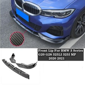 New High quality ABS Black & ABS carbon fibre Bumper Front Lip Protector Cove For BMW 3 Series G20 G28 325LI 325I MP 2020 2021