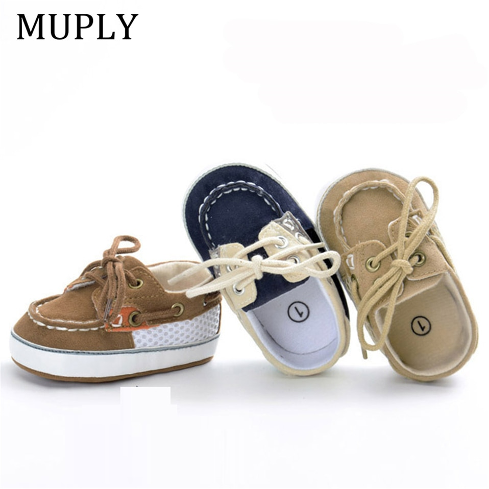 Brand Vintage PU Leather Baby Shoes Non-Slip Newborn Infant T-tied First Walkers Baby Boy Girls Todd