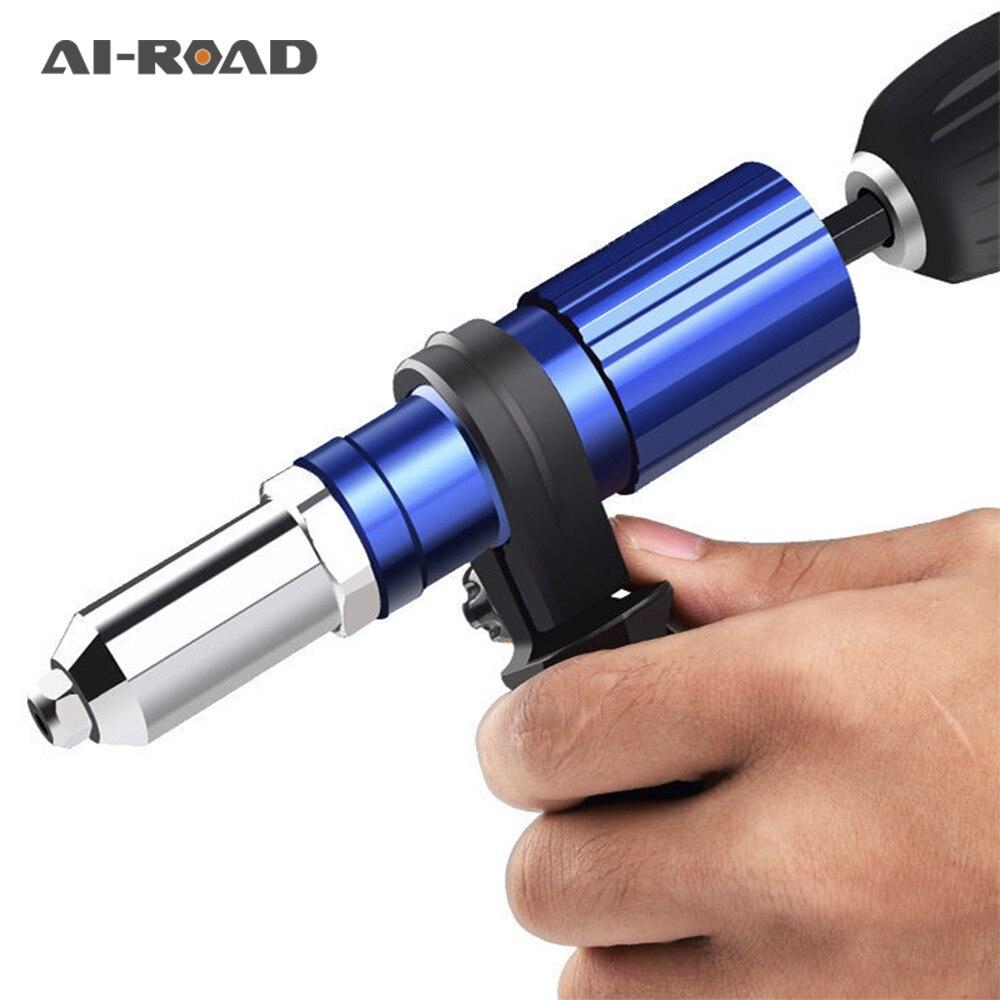 AI-ROAD Riveting Gun Adapter Electric Rivet Nut Gun Rivet Conversion Adapter Rivets Electric Rivet Nut Gun Power Drill Tools