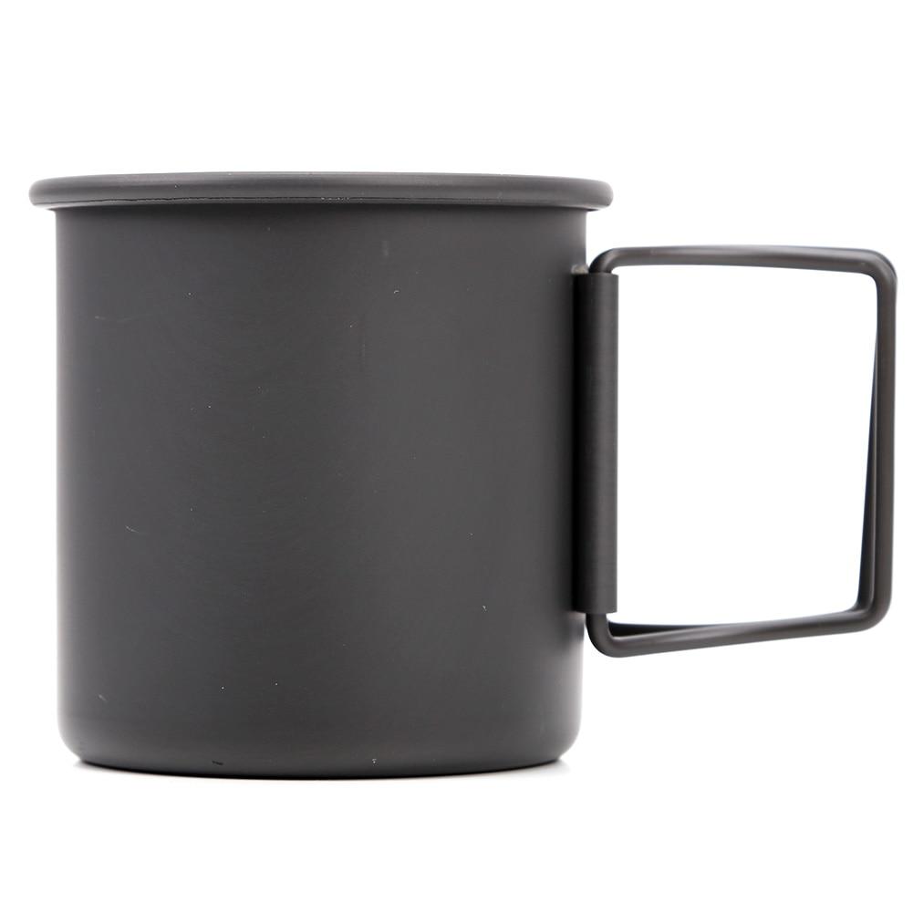 Складной стакана воды Путешествия Алюминий сплав Сверхлегкий на открытом воздухе кружка Чай Кофе чашки Портативный Легкая ручка кемпинг кружка для пеших прогулок